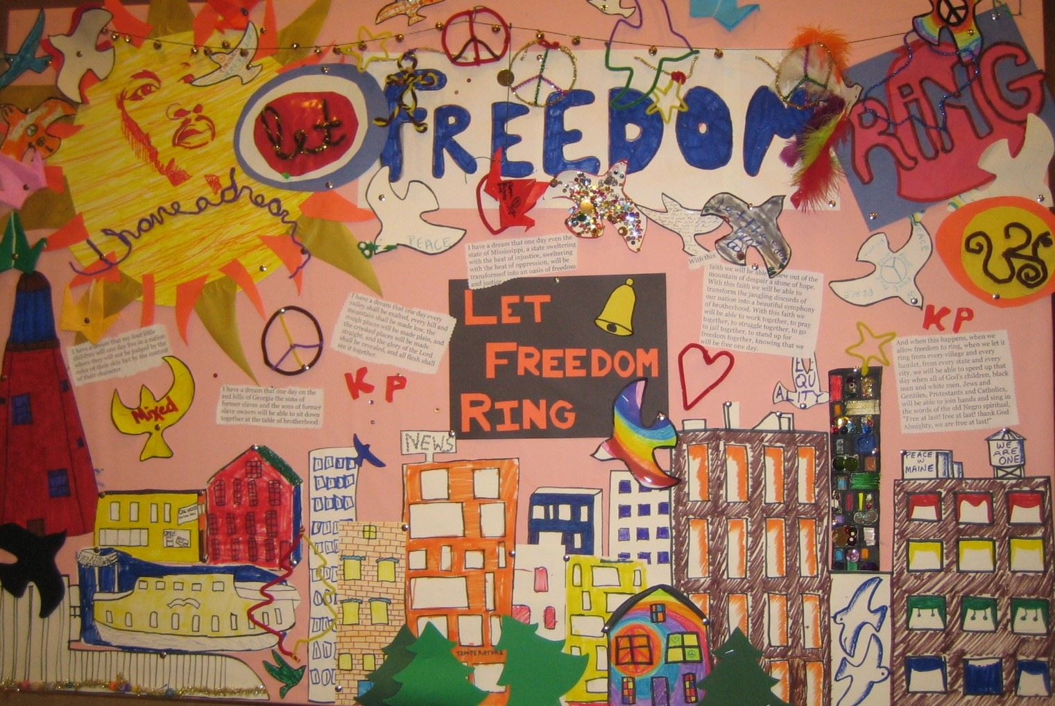 A mural of Kennedy Park created by Study Center Students