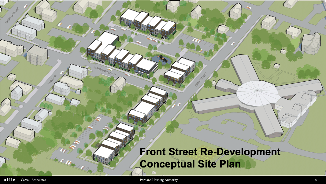 Front Street Concept Site Plan
